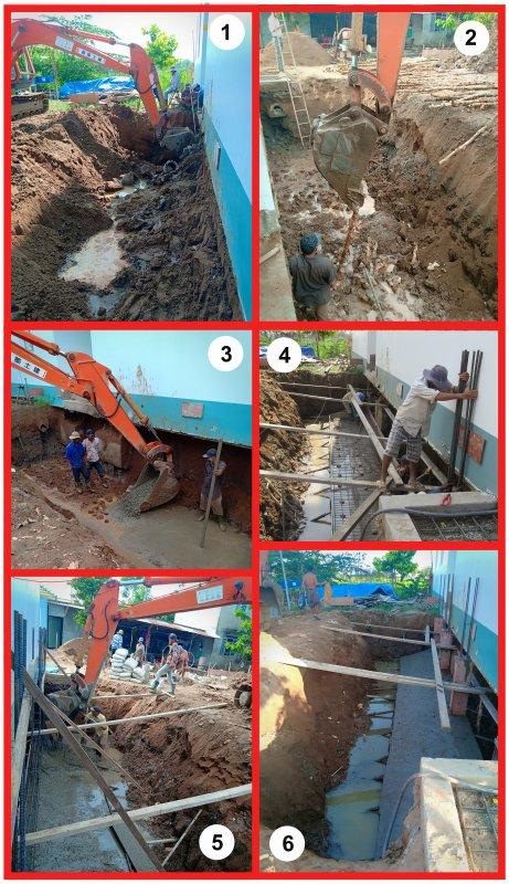 Fin des travaux de construction de l'orphelinat.