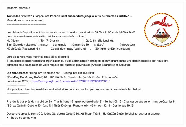 Informations diverses - CODIV-19
