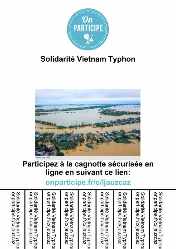 Appel aux dons pour les victimes des typhons et inondations au Vietnam