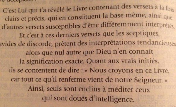 "Coran ~ Sourate-3 ""La Famille D'Imran"" Verset-7"