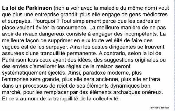 La loi Parkinson et no la maladie ...