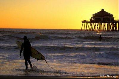 Huntington Beach et Brume Nocturne