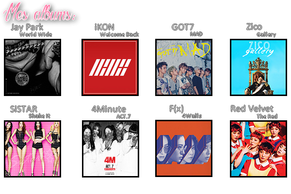 Mes albums.