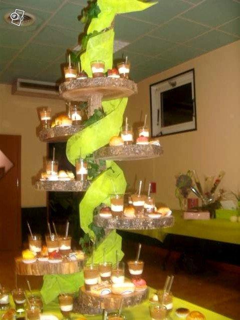Présentoir à gâteaux thème champêtre