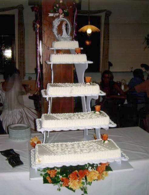 Pr sentoir gateaux rectangulaire 5 tages ou traiteur vanille des les cr ations - Presentoire gateau mariage ...