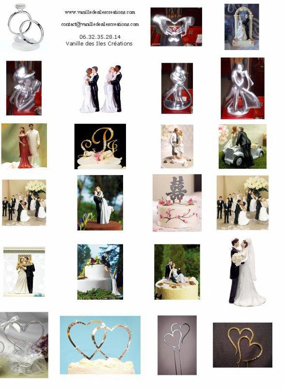 Plaquette figurines de mariage Vanille des îles Créations