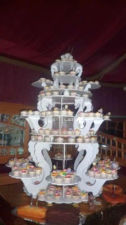 Pièce montée avec Cupcakes