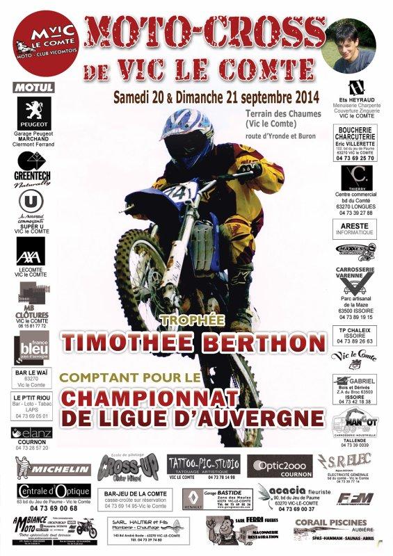 7 ème  TROPHÉE TIMOTHÉE BERTHON - 20 et 21 septembre