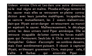 """Episode """" Pour l'Amour d'un Fils (1/2) """"  Texte / Déco / Créa"""