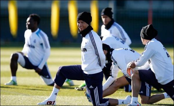 Entrainement avec le Real Madrid (04-01-13)
