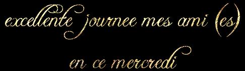 TRES  BONNE  JOURNEE DE  MERCREDI   MES CHERS  AMIS  (E)