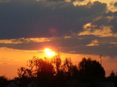 Coucher de soleil à Pontault ;)