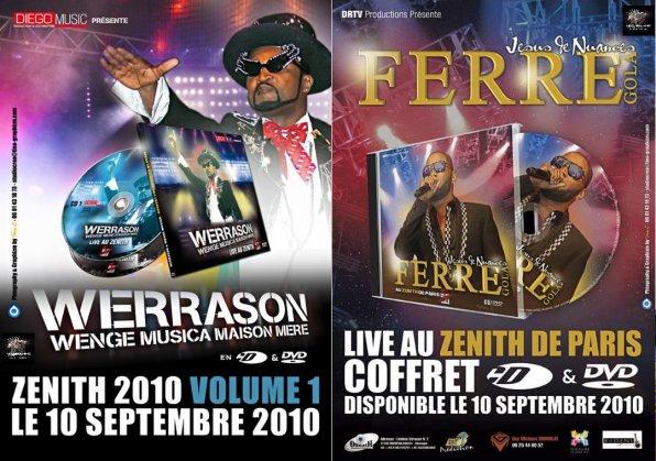 100% Promo Exclu : Affiche DVD zénith de paris Wérrason & Férré Gola