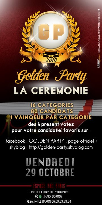 100% EVENEMENT : GOLDEN PARTY