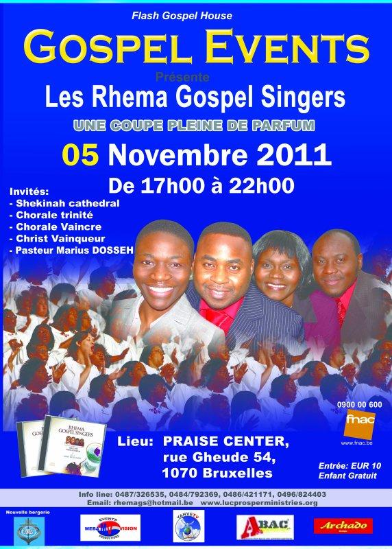 GOSPEL EVENTS Concert Gospel avec Rhema Gospel Singers