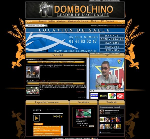 WWW.NDOMBOLHINO-NEWS.COM // OUVERTURE DU SITE INTERNET LE 1 JUIN 2012