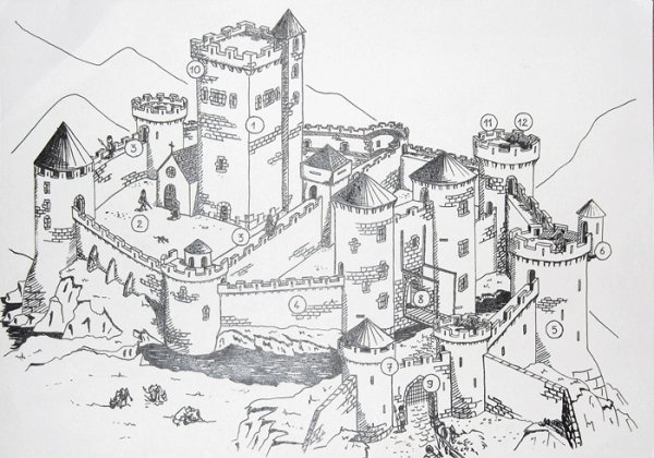 Chateau Fort Du Moyen Age 1