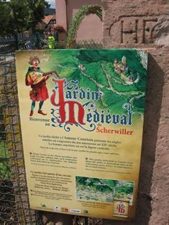 Le jardin médiéval du chateau Haut Koenigsbourg