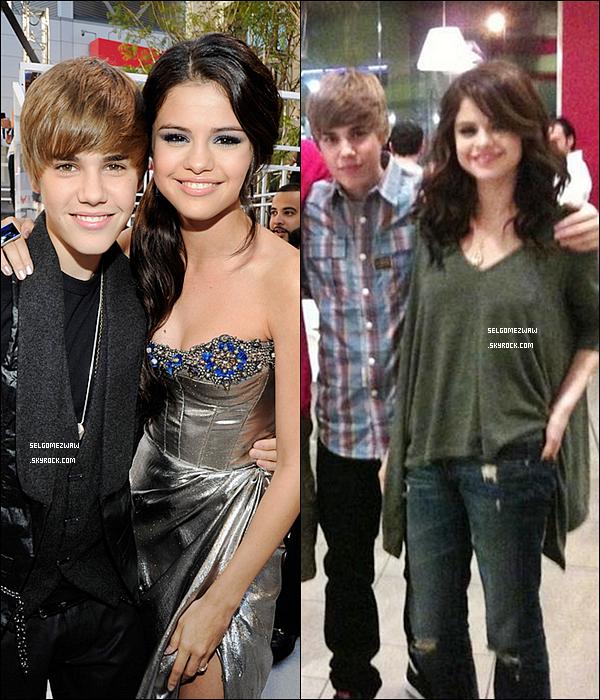 . Justin Bieber et Selena Gomez , ensemble ou juste une rumeur ?.  Une rumeur court, selon laquelle le chanteur canadien : Justin Bieber et l'actrice : Selena Gomez sortiraient ensemble ... Alors que cette dernière se moquait encore de lui il y a peu ( vidéo ) , puis on le disait tombé sous le charme de Demi Lovato ! Ils auraient été aperçu main dans la main à la sortie de « Menchie's », un restaurant à la mode de Los Angeles. Un témoin a même confié à « Hollywood Life » : « Selena tenait la main de Justin a la sortie du restaurant » .  Qu'en penses-tu Rumeur ou Scandale ?_____.
