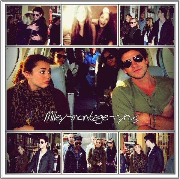 """Vidéo de Miley :). + Photo perso + photo Miley dans l'avion + Miley a visité """"chapel street"""" dans melbourne.+ new video du bassiste de Miley !"""