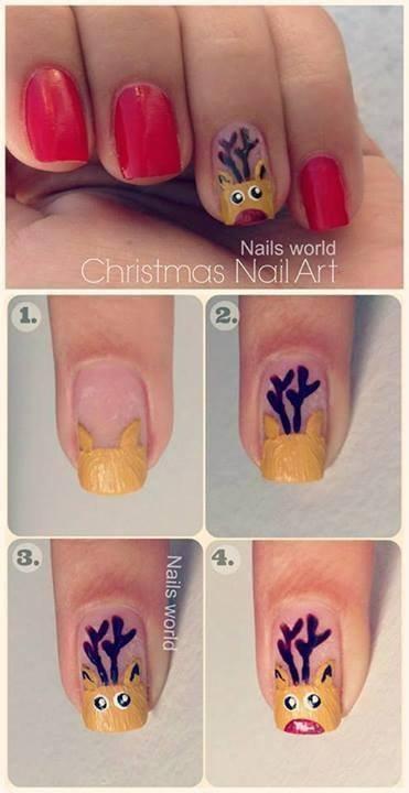 nail art spéciale noël