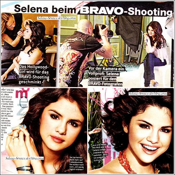 """.. Scan du magazine allemand Bravo. Photoshoot que Selena a fait lors de son séjour là-bas...            + Selena est nominée dans la catégorie des meilleures jeunes stars aux """"BET Award"""" ! .."""