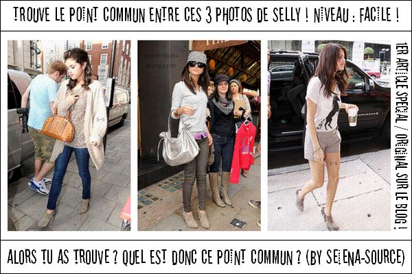 ..  1er article spécial/original : Trouve le point commun ! + Petit jeu : Connais-tu Selena ? ;)   Les 5 premiers à avoir tout trouvé auront 1 kiff + un lien .. Que pensez-vous de l'article ?  ..
