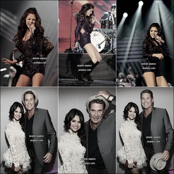 ..  6 novembre : La sublimissime Selena Gomez était présente aux MTV EMA .. J'adooree ;)   ..        ..  Découvrez les photos des backstages, du show de la cérémonie, de sa performance & de ses portraits avec David Hasselhoff .. Vos avis sur les tenues de Miss Gomez ? Tops / Flops ?  ..