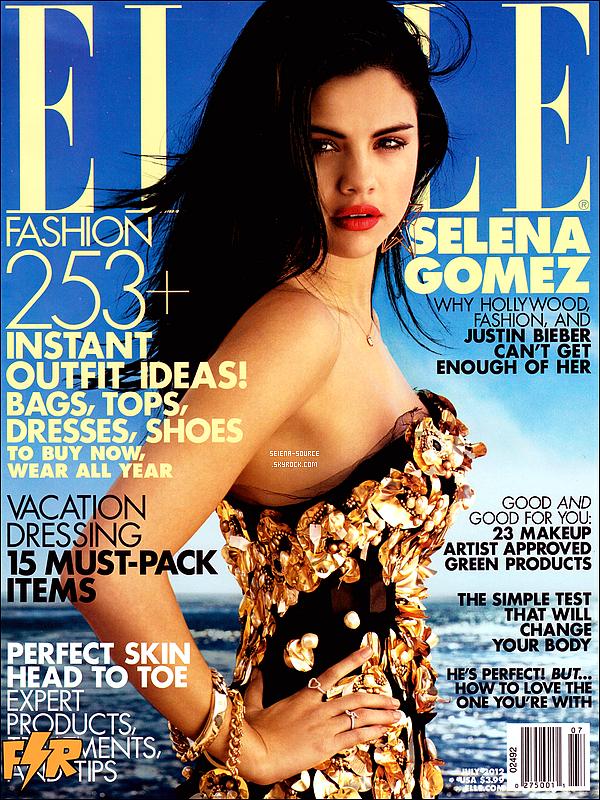 ..  Notre ravissante Selena Gomez pose pour le magazine « ELLE ». Sublime en femme fatale ;)   ..