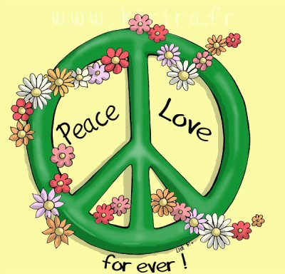 Peace and love vivez votre vie comme elle est ! Prenez la comme elle vous vien !  vous verez qu'à la fin vous vous sentirez mieux !