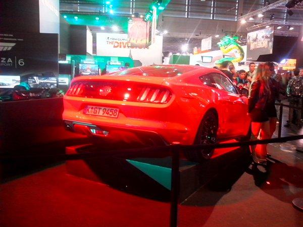 Ford Mustang GT vue a la Paris Games Weeks