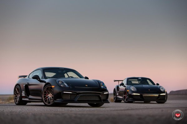Porsche Cayman GT4 & 911 GT3 RS by Vossen