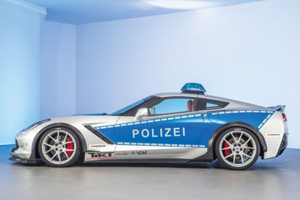 Essen 2015 : Tune it! Safe ! Chevrolet Corvette Z7 Polizei