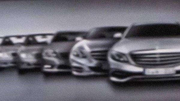 La face avant de la Mercedes Classe E en fuite