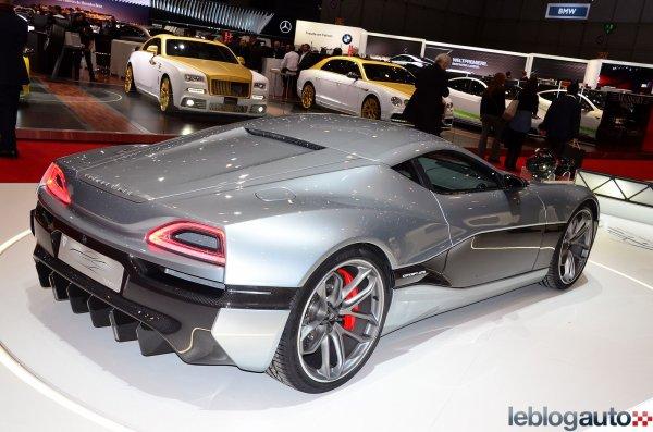 Genève 2016 : Rimac Concept_One en version route et la méchante Concept_S