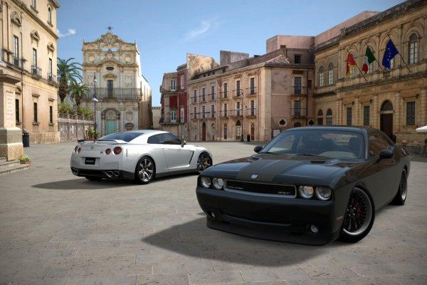 Nissan GT-R R35 et SRT Challenger SRT-8 HEMI - Gran Turismo 6