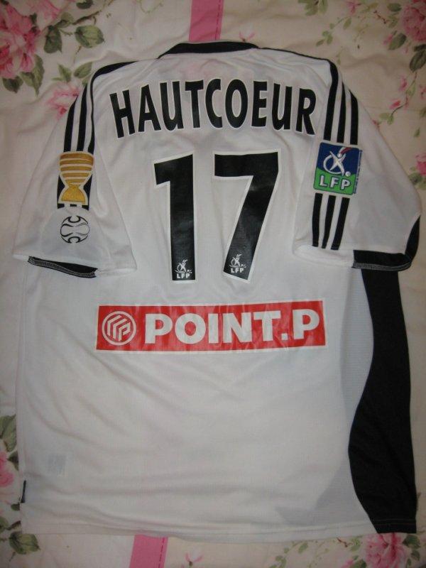 Maillot porté YOHAN HAUTCOEUR Coupe de la ligue 2006 SETE / ASSE