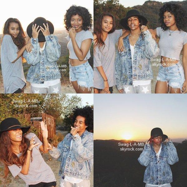 01/07/14. Instagram : Princeton était avec ses amies et a ajouté des photos avec elles.
