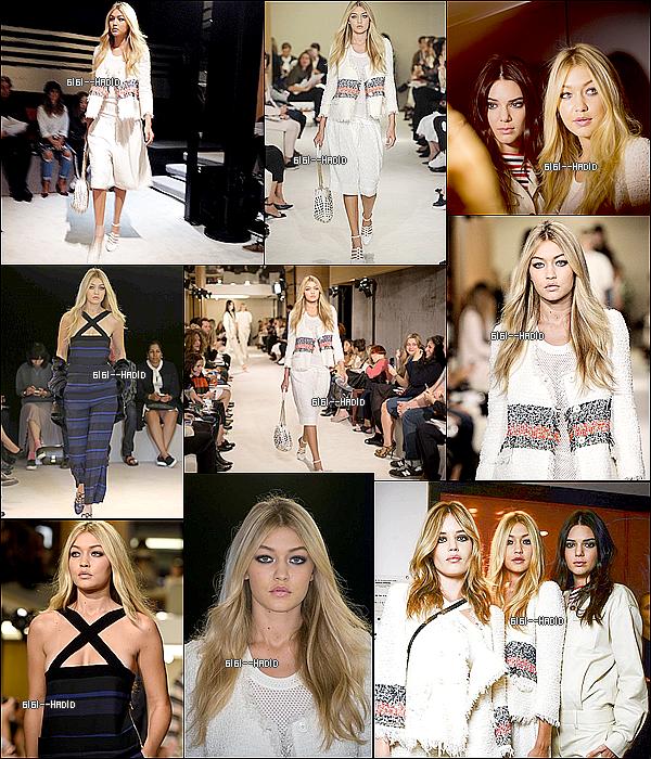 30/09/2014: Gigi participait au défilé de Chanel à la Fashion Week de Paris.
