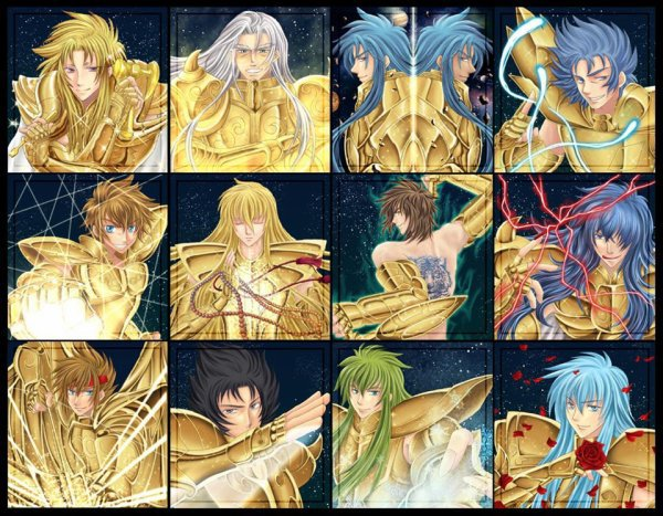 saint  seiya the lost canvas( les chevalier d'or)