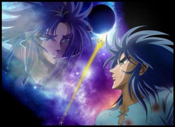 Les deux frères Saga et Kanon des Gémeaux