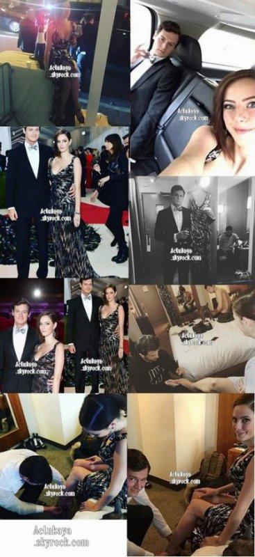 Préparation du Met Gala de Kaya et Benjamin sur Instagram. (02.05.16)