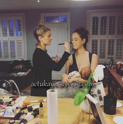 11.01.2017 - Préparation maquillage pour la soirée d'ouverture du ballet 'Giselle' au London Coliseum.