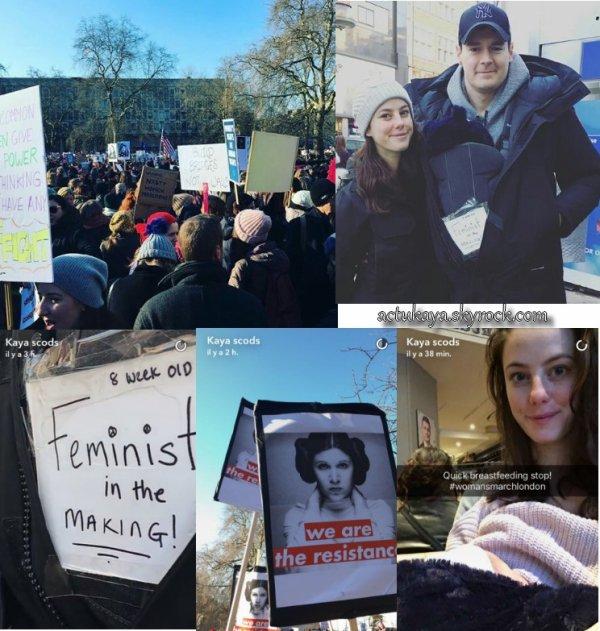 21.01.2017 - Kaya, Benjamin et leur enfant à la #womensmarchlondon