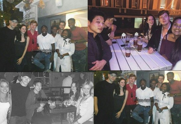 19.03.2017 - Photos récentes du casting du Labyrinthe, Ben et Kaya.
