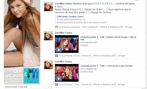 Facebook officiel & blog officiel de Caroline Costa.
