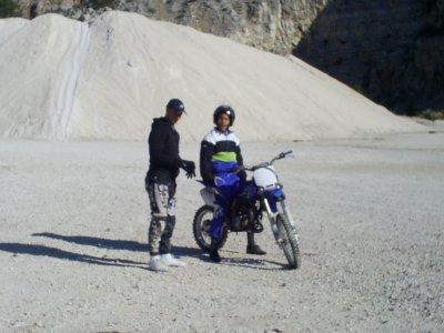 boubakar et moi sur la becane