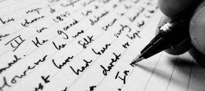 J'écris ...