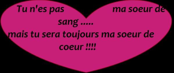 Tu Nes Pas Ma Soeur De Sang Mais Tu Seras Toujours Ma Soeur