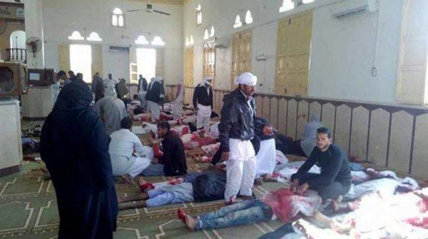 Egypte: Au moins 50 morts dans un attentat à la bombe visant une mosquée  et la vous dite pas grace a dieu bizare ????